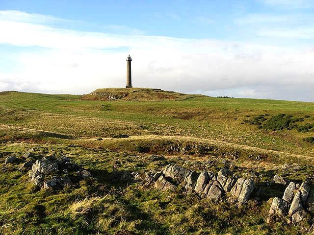The Waterloo Monument on Peniel Heugh