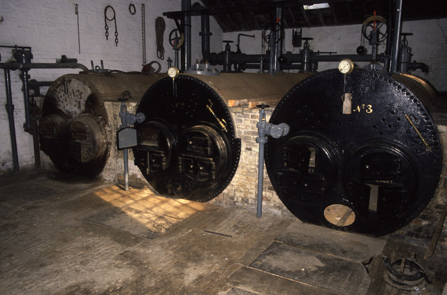 Lancashire boilers at Stretham Old Engine