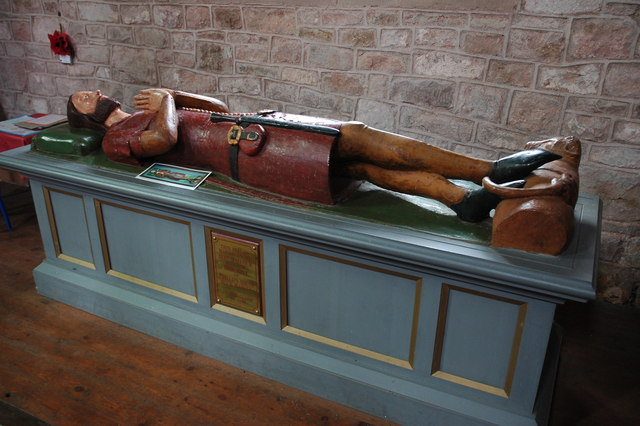 Medieval effigy in Much Marcle church