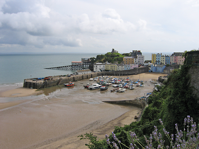 Low tide at Tenby Harbour