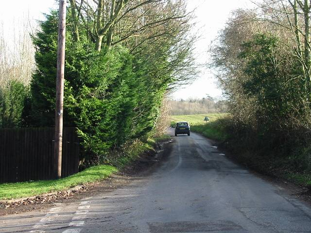 Looking E along Wingham Well Lane from junction with Watercress Lane