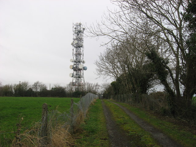 Radio mast at Fourknocks, Co. Meath