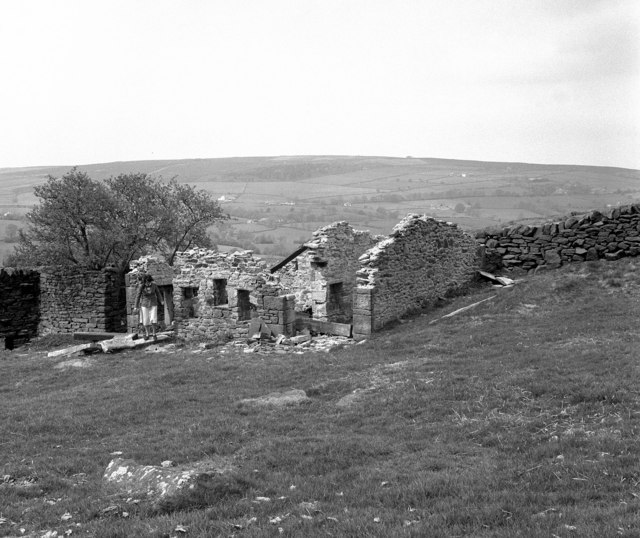 Remains of hill farm near Foulridge, Lancashire