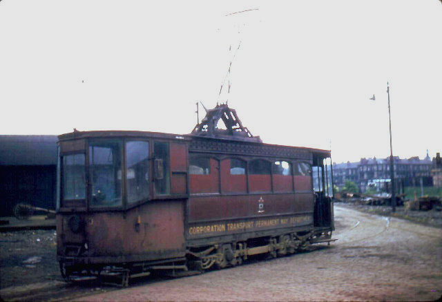 Glasgow permanent way tram