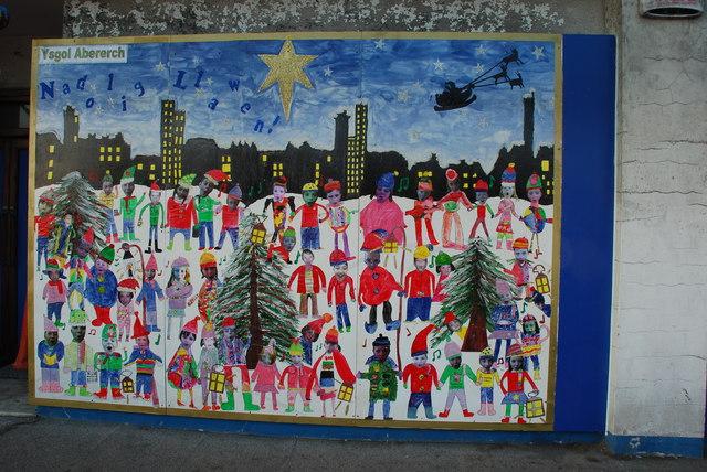 Murlun U0027Dolig   Christmas Mural Part 51