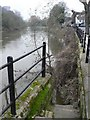 SJ6703 : Ironbridge: steps into the river by Chris Downer