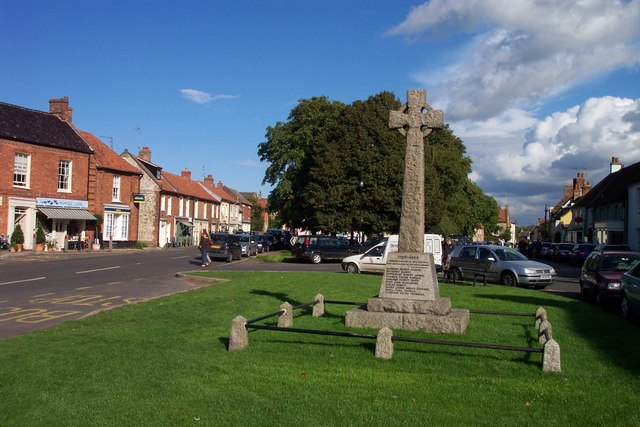 Village green and war memorial, Burnham Market