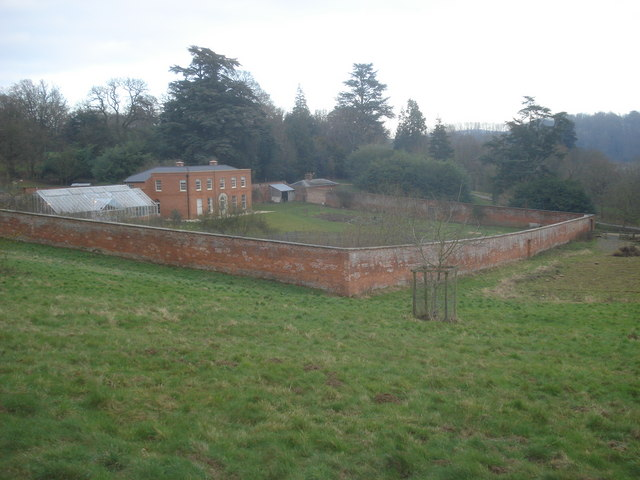 The walled garden at Hope End