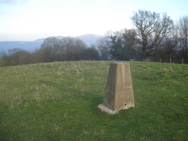 Trig point on Oyster Hill
