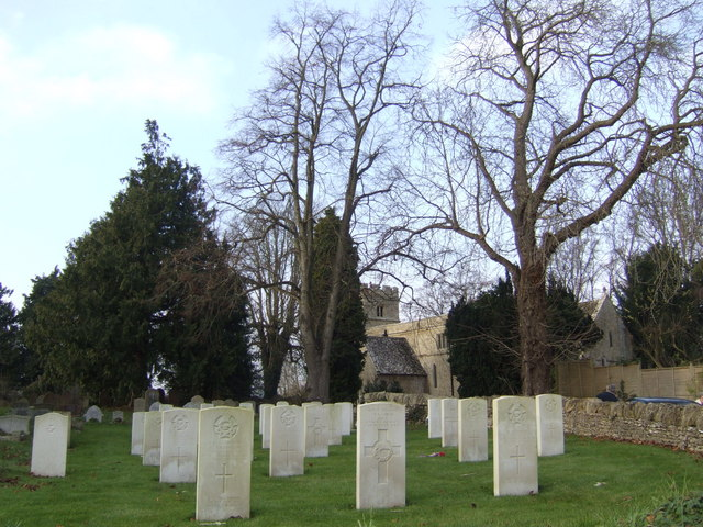 War graves at St. Mary the Virgin's church, Black Bourton