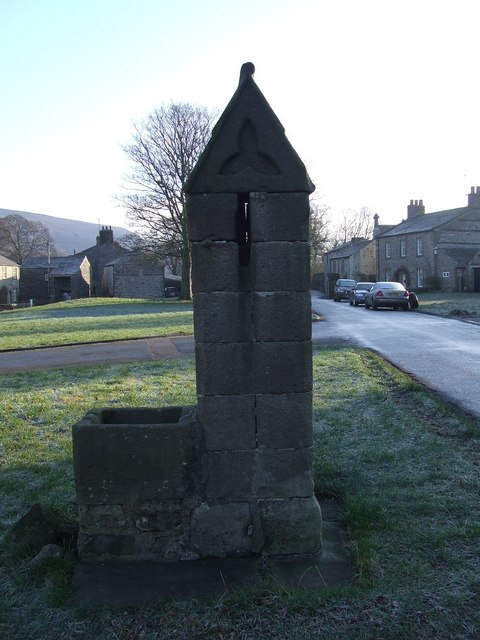 Stone Water-Pump on Arncliffe village green