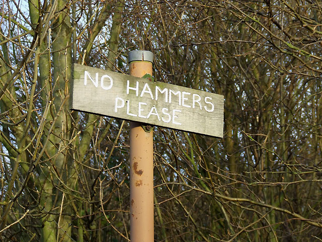 No Hammers Please, Dudley, Worcestershire
