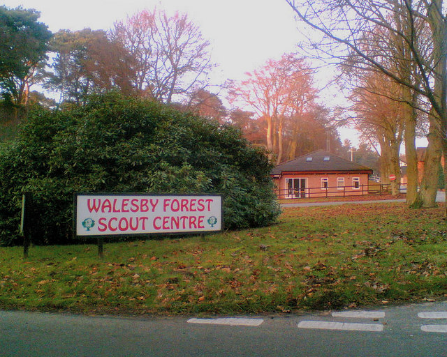 Entrance to Walesby Forest Scout Centre