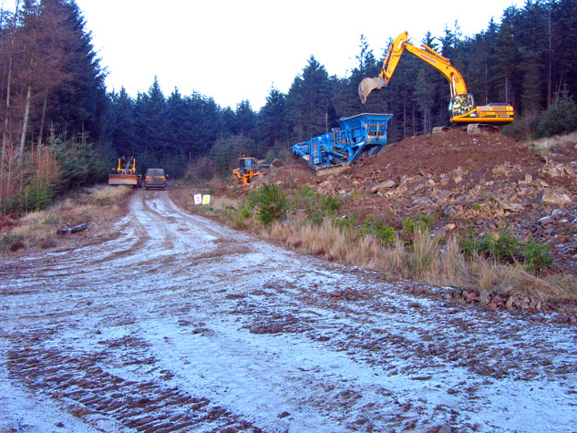 Forestry operations in Durris Forest