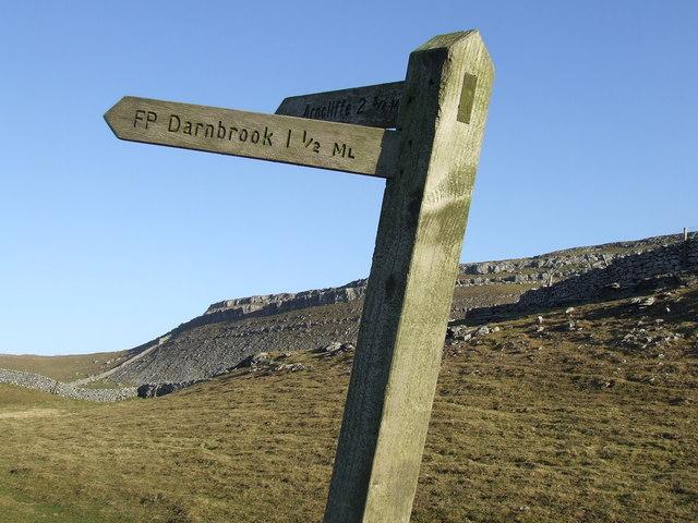 Signpost to Darnbrook & Arncliffe