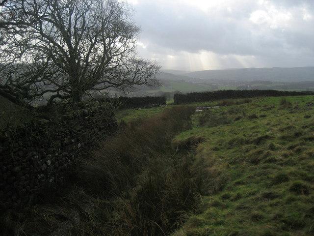 Grey Winter Scene near Embsay Kirk