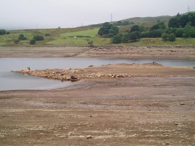 Llyn Celyn Reservoir taken from the Memorial Chapel