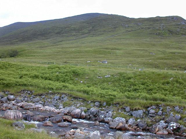 Land east of the Allt a' Chaorainn