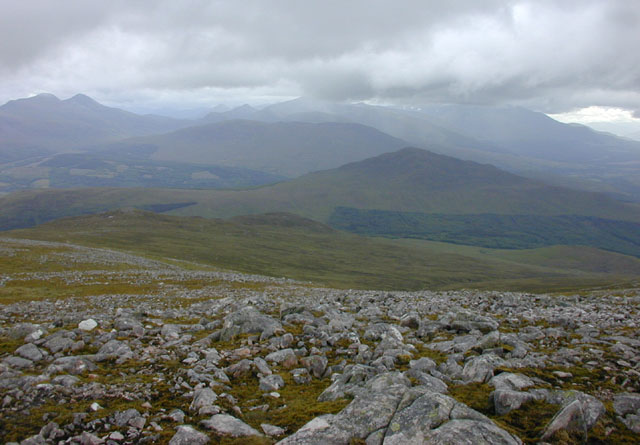 View southwest from Beinn Teallach