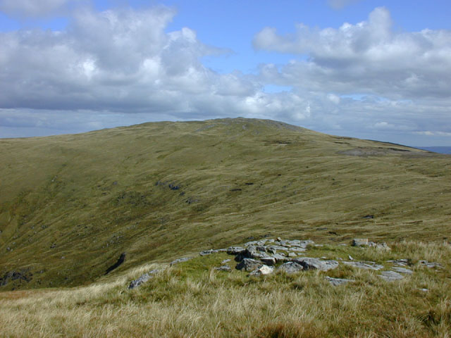 View east towards Pen Pumlumon Arwystli