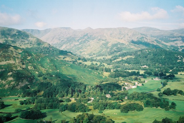Patterdale and the Helvellyn range beyond