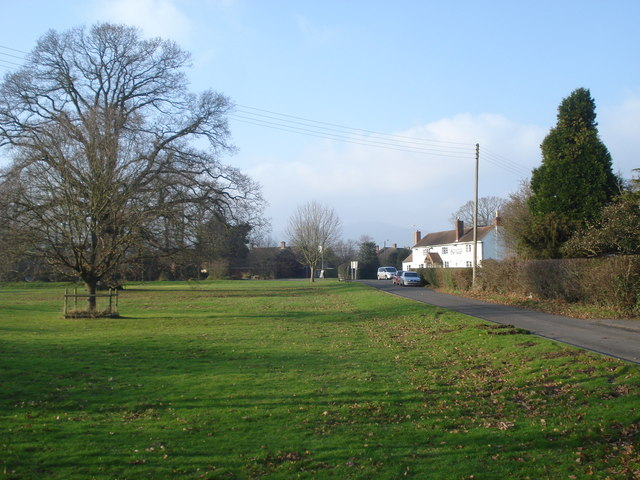 The village green at Hanley Swan