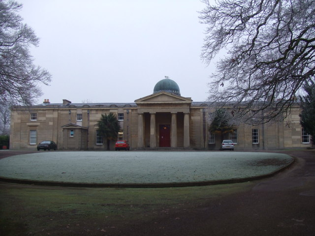 Cambridge Observatory (1823) a frosty morning
