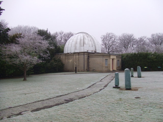 Northumberland Telescope Dome and frost