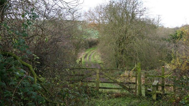 Track and public footpath
