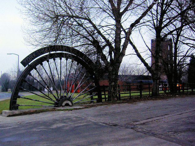 Winding wheel from Yorkshire Main Colliery 1911 to 1985