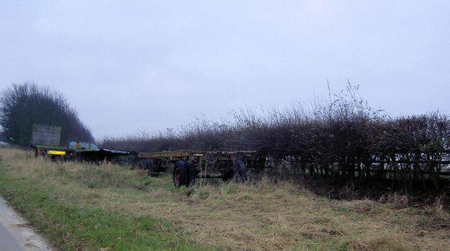 Farm trailer graveyard