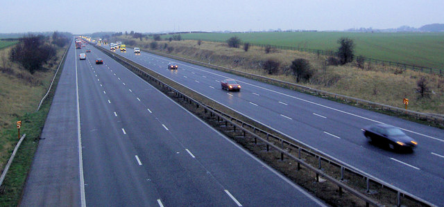 Looking West on the M18 motorway