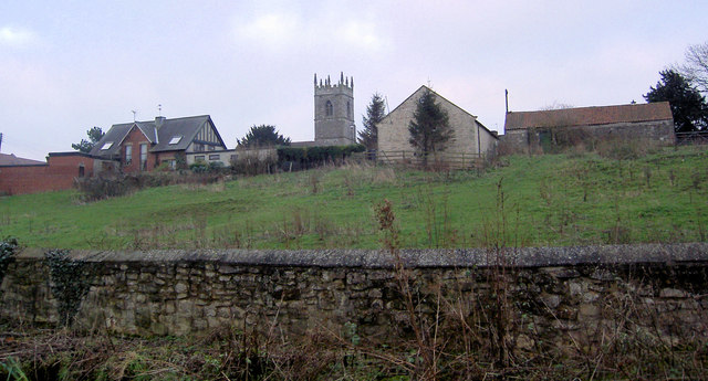 Stainton church from Lime Kiln Lane