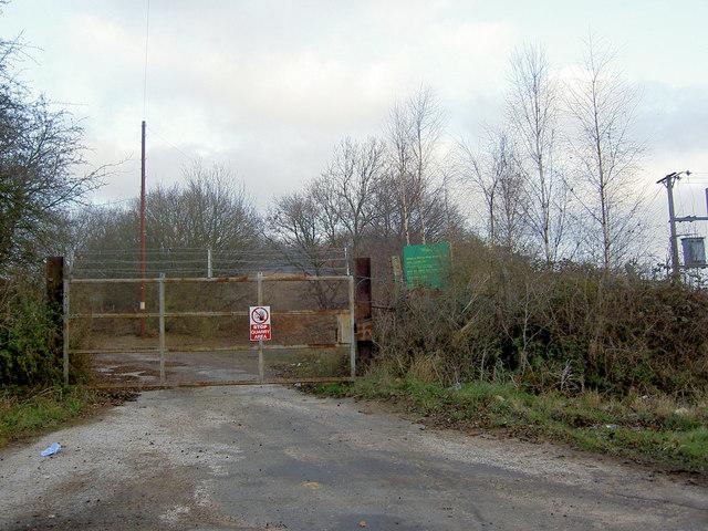 Disused quarry gates now landfill site