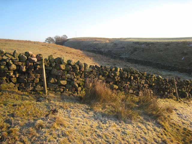 Wall and moorland near Gillalees