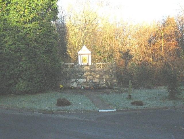 Wayside shrine of the Matka Boska Czestochowska