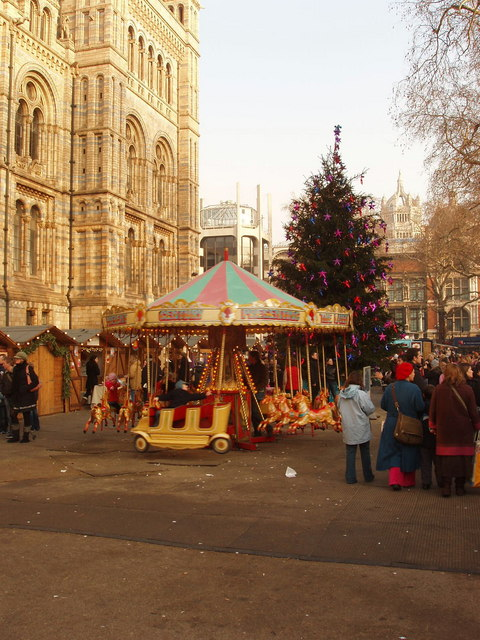 Christmas market at the Natural History Museum