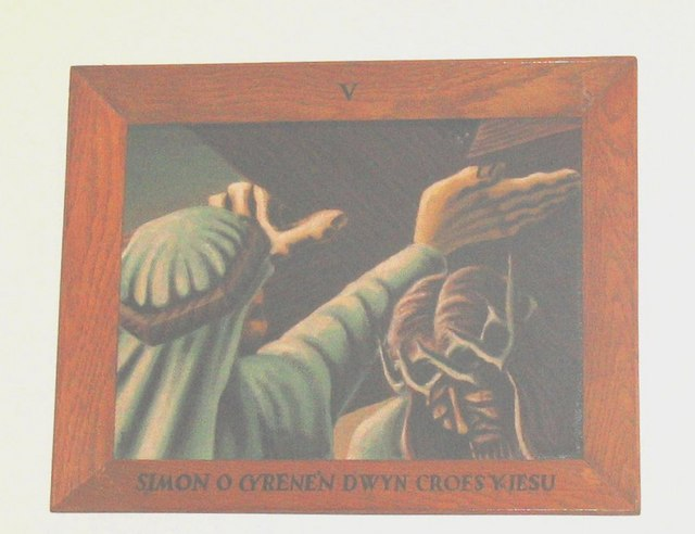 The Fifth Station of the Cross - Simon of Cyrene helps Jesus carry the cross