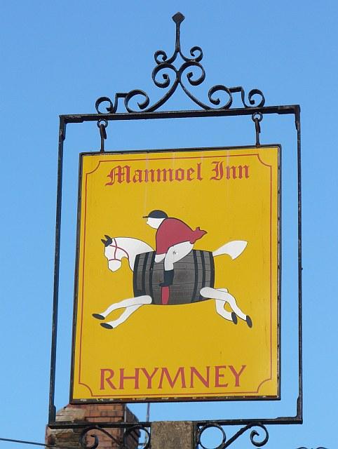 Manmoel Inn Sign