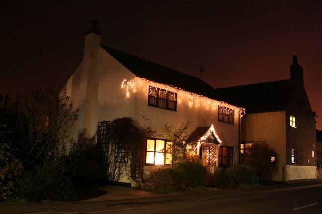 Jasmine Cottage Christmas lights