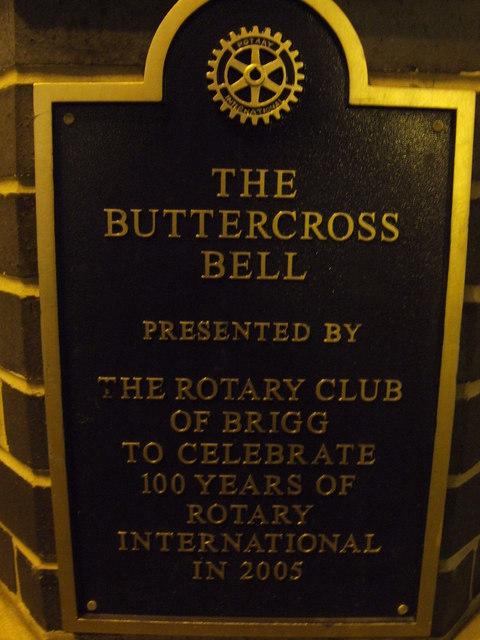 Buttercross Bell - inscription