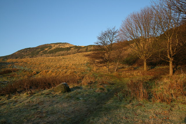 A route to Dunsapie Crag