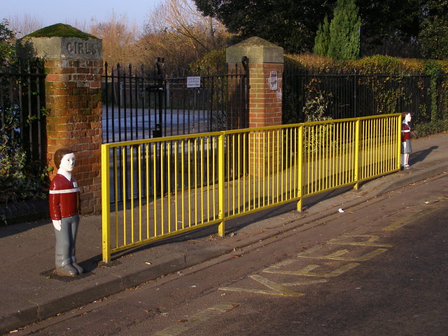 Railings outside Foundry Lane Primary School