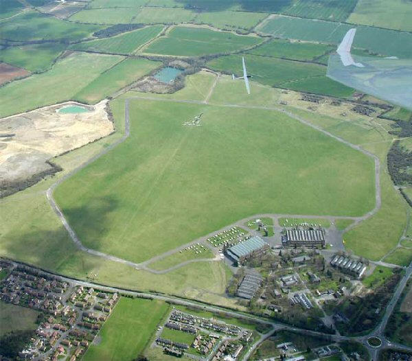 Bicester Airfield from above