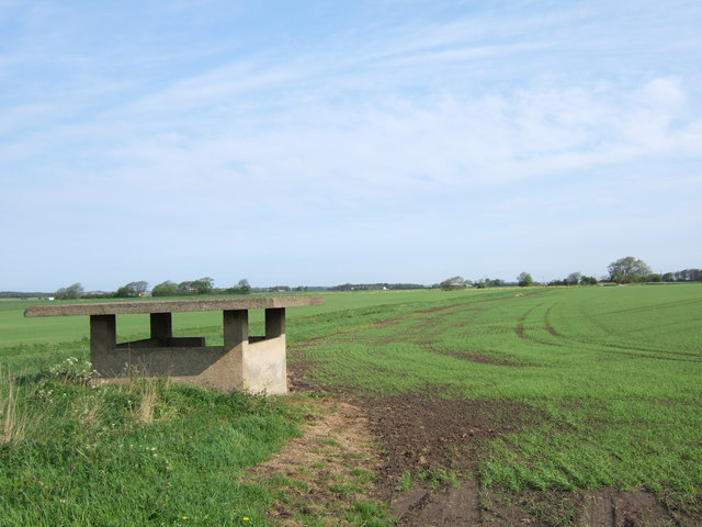Concrete structure in field