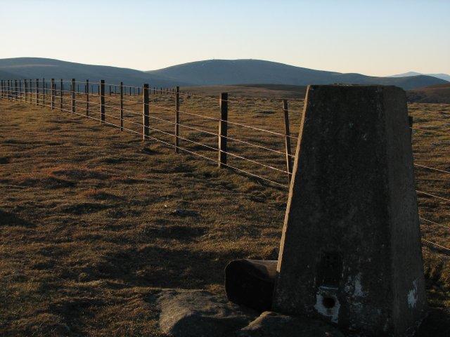 Trig point, Pykestone Hill