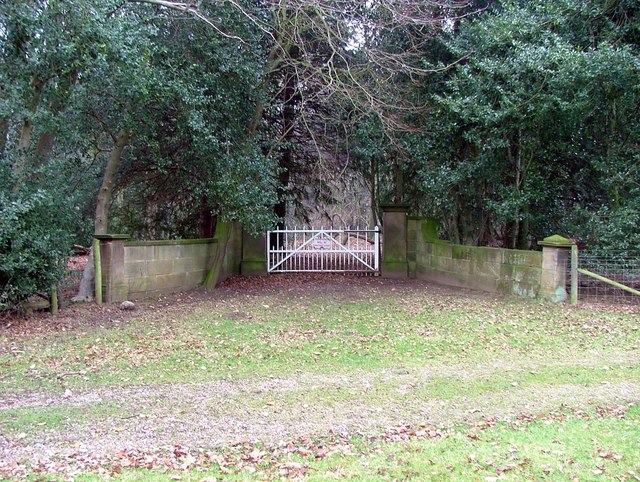 Entrance gate to Farnah Hall, near Duffield