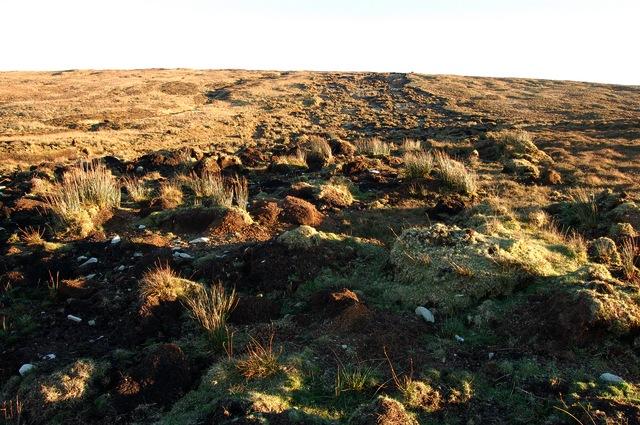 Peat slide on Meall na Suiramach