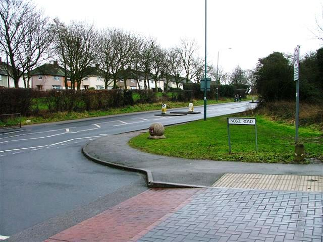 Junction of Nobel Road and Clifton Lane