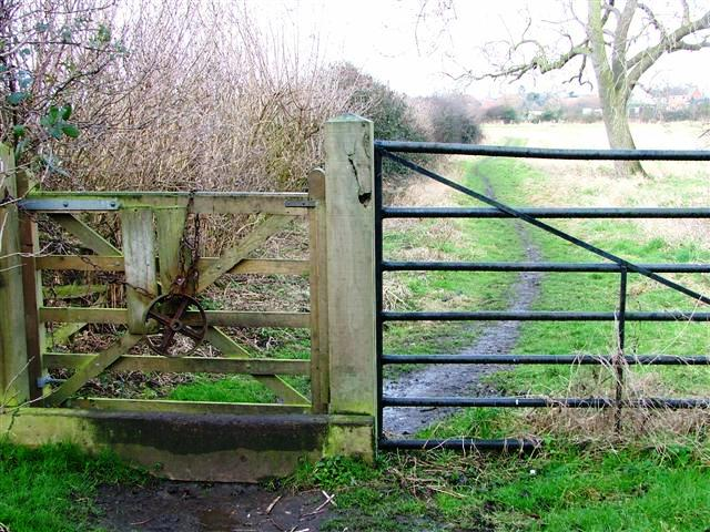 Gate and Public Footpath